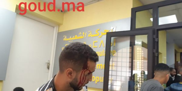 حرب الكراسا والدم في لقاء العنصر مع شبيبة حزبو.. البوليس بدا الابحاث ديالو