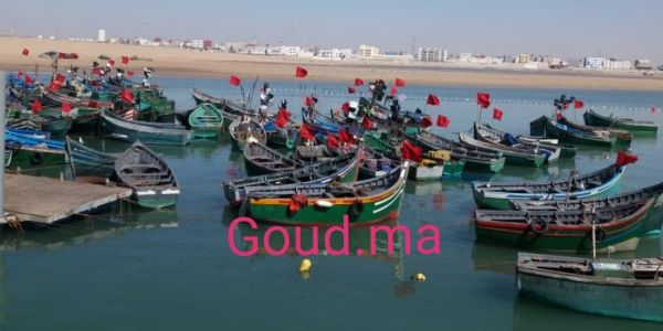 صحاب قوارب الصيد المسروقة من عصابات لحريگ احتجوا بطريقة خاصة فميناء العيون -فيديو