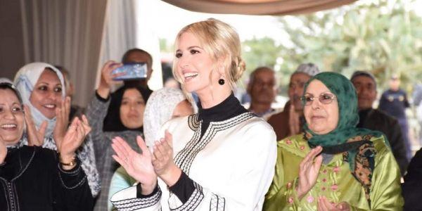 """جارتي فضيلة الكادي تلبس إيفانكا ترامب! الهدف الأكبر الآن هو """"تلبيس"""" الوالد دونالد ترامب و""""تطريزه"""" حتى يصبح مثل الخاتم في إصبع المغرب"""