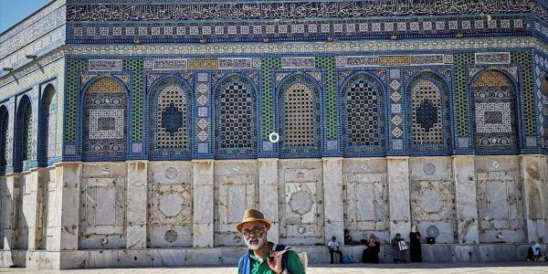 """المرابطي ل""""كود"""": مشيت لإسرائيل كفنان والجدراية اللي رسمت مستوحاة من ألوان العلم الفلسطيني + صور"""