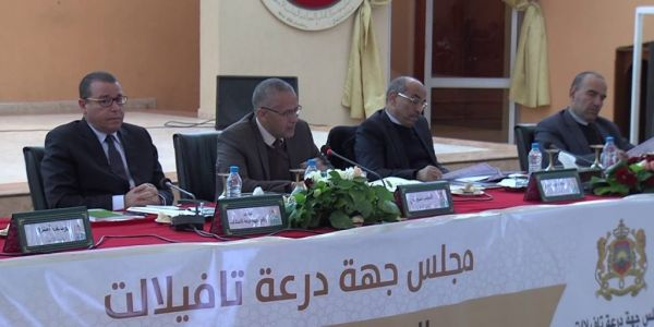 """بحضور """"السوبر"""" والي..اتهامات بين الشوباني وأغلبية مجلس جهة درعة: الفوضى ف مناقشة مشروع الميزانية"""
