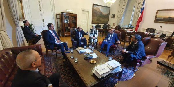 الوحدة الترابية على راس اجندة وفد برلماني فالشيلي ورئيس مجلس الشيوخ جاي للصحرا