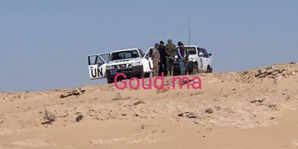 قوات المينورسو دارت استنفار فمعبر الگرگرات باش تفك احتجاج عناصر البوليساريو