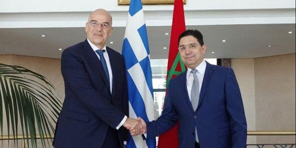 ملف الصحرا وقضايا مشتركة جمعات بوريطة مع وزير خارجية اليونان فالرباط