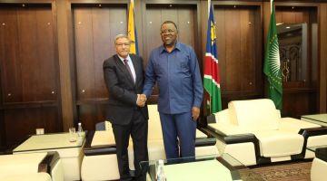 على خطى جنوب إفريقيا. ناميبيا كتدعم البوليساريو ورئيسها استقبل ممثل الجبهة