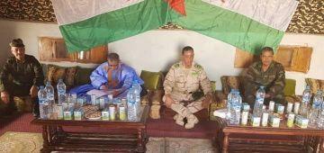 بتمثيلية ضعيفة. رئيس موريتانيا صيفط وفد يعزي البوليساريو