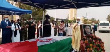 دابا. جثمان قيادي البوليساريو امحمد خداد وصل لمطار تندوف