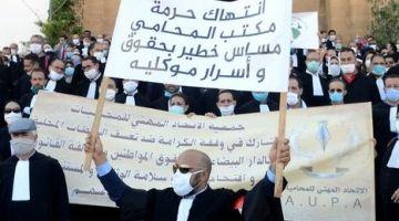 """الحرب بين الداخلية والمحامين مستمرة.. احتجاجات المحامين أمام البرلمان ضد """"التراجعات"""""""