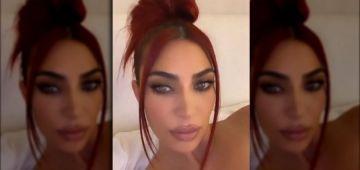 كيم كاردشيان صبغات شعرها بلون جديد.. والفيديو ديالها شافوه مليون ونص واحد ف24 ساعة