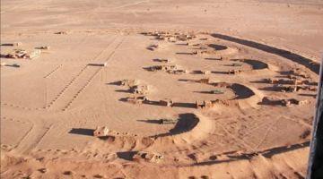عناصر الجيش وقفات 3 ديال الأشخاص فيهم فلسطيني حدا الجدار الرملي بنفوذ السمارة