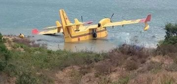 الطيارة لي كطفي الحرائق فغابة المضيق طاحت والمصيبة جات خفيفة وماكاينش خسائر كبيرة