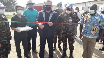 القوات المسلحة دارت مركز طبي مع بعثة الأمم المتحدة فالكونكَو