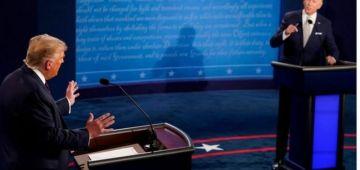 """ترامب وبايدن نوضوها بونيةبالكلام فاول مواجهة تلفزيونية. جو لدونالد: وابنادم واش تقدر تسد فمك و""""انت اقودرئيس فتاريخامريكا""""و""""مهرج"""" و""""كذاب"""""""