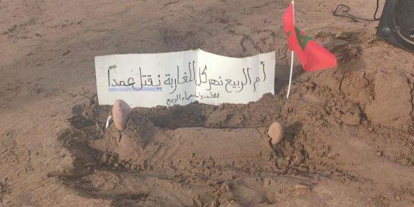 مسيرة احتجاجية  فآزمور  للمطالبة بعودة الحياة لمصب وادي أم الربيع بعدما تحول لقنبلة بيئية