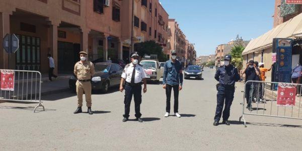 """بوليس مراكش داير حملة أمنية محكمة فالبلايص العمومي على خروقات """"كورونا"""""""