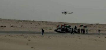 ايليكوبتر تابعة للمينورسو كتراقب تحركات البوليساريو فالمنطقة العازلة