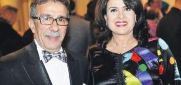 كانت منهارة.. خديجة اساد بعدت على الصحافة والكاميرات نهار الگنازة ديال راجلها عزيز سعد الله