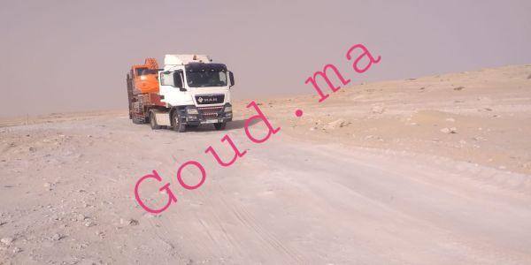 سلطات المغرب بدات فتعبيد طريق الكركرات والمنطقة العازلة مابقاتش -تصاور