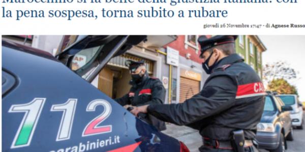 وسائل إعلام إيطالية : المهاجرين المغاربة كيتفلاو على العدالة ديالنا.. غير تحكم سورسي رجع للسرقة فالبلاصة