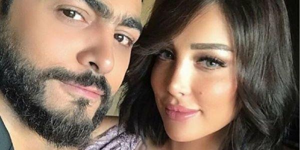 تامر حسني رفض تغطية جنازة الوالد ديال مراتو المغربية بسمة بوسيل باش يحتارم الإجراءات ضد كورونا