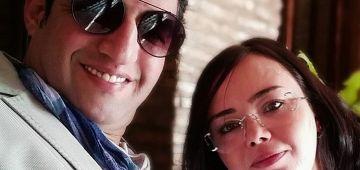 الحب والغرام.. هشام الوالي محتفل بعيد ميلاد مراتو– تصويرة