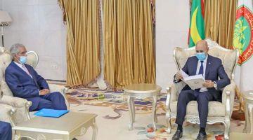 """رئيس موريتانيا استقبل مسؤول خارجية البوليساريو ووكالة أنباءها وصفات ابراهيم غالي ب""""الرئيس"""""""