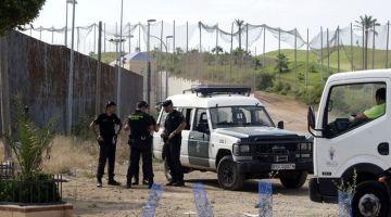 مليلية : استنفار أمني أفشل خطة مئات الحراگة اللي بغاو يستغلو عيد الفطر باش ينقزو من فوق الگرياج الحدودي