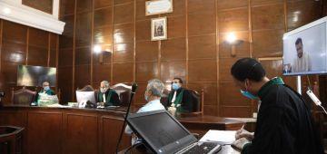 حصيلة المحاكمات عن بعد فسبع شهور: تدارت 10 آلاف جلسة تعرضات فيها194 ألف و857 قضية