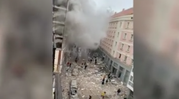بالفيديو. انفجار كبير وسط مدريد. الحصيلة الاولى 4 قتلى و10 جرحى
