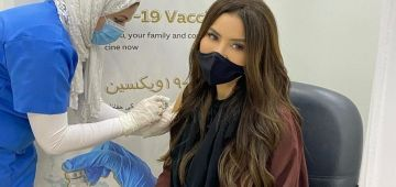 الممثلة مايسة المغربي دارت الفاكسان ضد كورونا فالإمارات – تصويرة