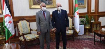 عاجل. رئيس الجزائر عبد المجيد تبون استقبل زعيم البوليساريو ابراهيم غالي