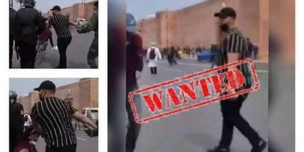 الفايسبوك مقلوب على المقدم اللي ضرب أستاذ بنص ف احتجاجات أساتذة الكونطرا بالرباط
