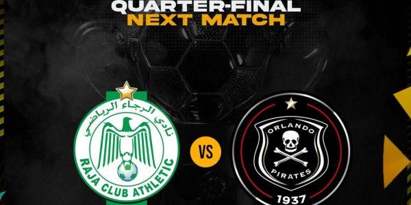 قرعة ربع النهاية ديال كأس الكاف.. الرجاء ضد أورلاندو بيراتس الجنوب إفريقي – تغريدة