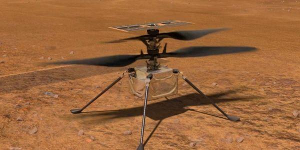 """خطوة تاريخية.. إيليكوبتير """"إنجينيويتي Ingenuity"""" طارت ف المريخ – فيديوهات"""