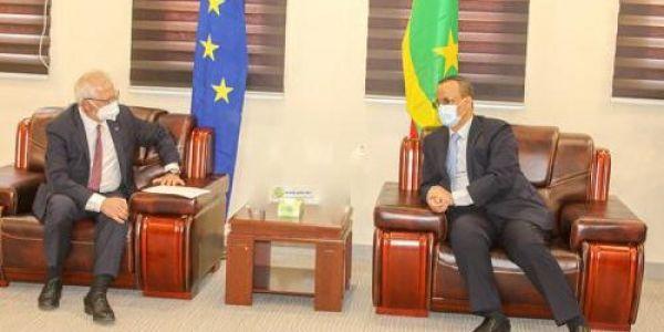 وزير خارجية موريتانيا تلاقى جوزيب بوريل و ملف الصحرا ماكاينش ف البروگرام