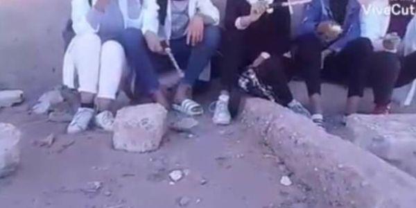 اشتوكة آيت باها.. فيديو ديال بنات فالليسي هازين الجناوا والسيوفة وكيهددو منوض روينة فانترنيت