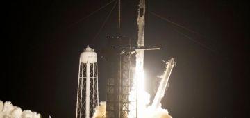 """صاروخ """"سبايس إكس"""" قلع اليوم لمحطة الفضاء الدولي"""