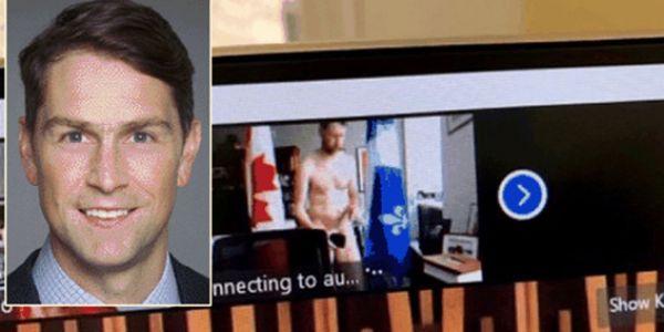 كتوقع.. نائب كندي بان عريان في اجتماع رسمي مباشر! – فيديو