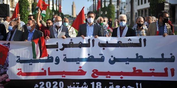 """مناهضو التطبيع دعاو لمسيرة شعبية لطرد """"الاسرائيليين"""" من المغرب"""