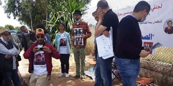عائلات الصحفيين الراضي والريسوني دارو اعتصام لليوم الخامس قدام عكاشة – تصاور