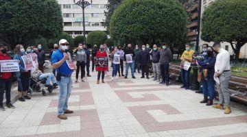الصبليون.. مغاربة نظمو وقفة وطالبو بالإفراج عن رئيس التنسيقية العامة لمغاربة اسبانيا