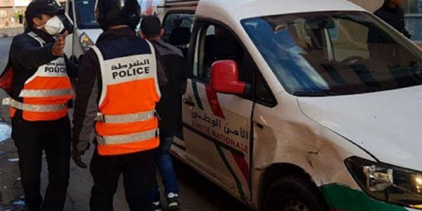 البوليس شدو 20 واحد خرقو الطوارئ الصحية وداور الفوضى وهرسو الطوموبيلات فسلا