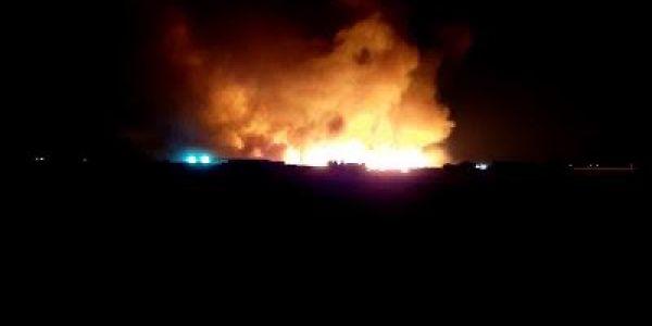 العافية  شعلات ف 70 هكتار بالغنيميين ضواحي برشيد