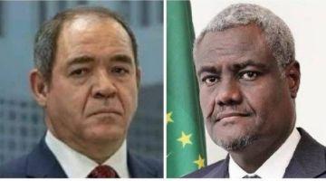 وزير خارجية نظام عسكر الدزاير هضر مع رئيس المفوضية الإفريقية وملف الصحرا حاضر ف لبروكرام