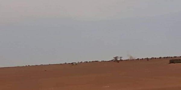 القوات المسلحة قصفات منطقة حدا الجدار الرملي قربوا منها ميليشيات البوليساريو -تصاور