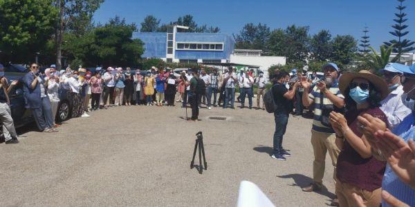 احتجاجات بمديرية الأدوية بسبب اخفاء الملفات ومراقبة الموظفين بالكاميرات والنقابيين للمديرية: ارحل – فيديو