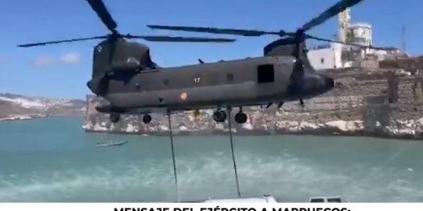 الازمة مع الصبليون : الجيش الاسباني نشر فيديو حول نشاط عسكري بجزيرة محتلة حدا الحسيمة