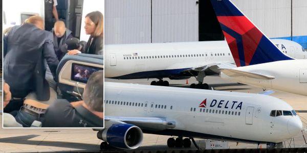 بالفيديو.. شخص نوض الروينة وسط طيارة ميريكانية وتسبب فـ تحويل مسارها