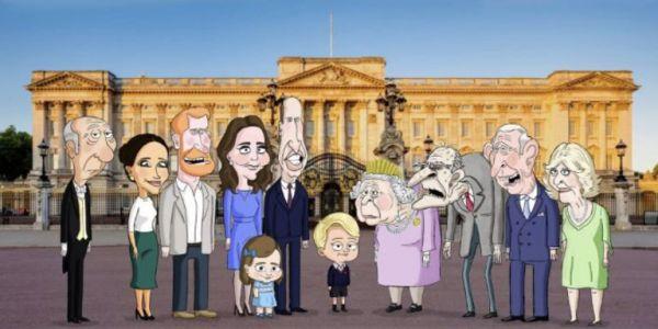 رسوم كلها ساركازم على العائلة الملكية البريطانية دايرين البوز – فيديو