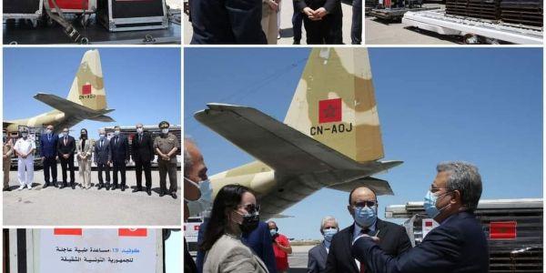 المغرب وقف مع تونس مزيان. 7 طيارات دالمساعدات